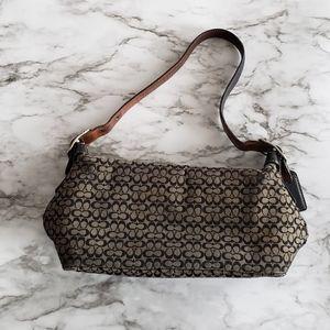 Coach purse mini signature black canvas c print